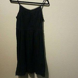 Old Navy Petite Small Black Dress Edge Detailing